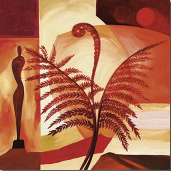Alfred Gockel Fiddle Ferns sanat yağlıboya tablolar modern sanat soyut el yapımı yüksek kalite
