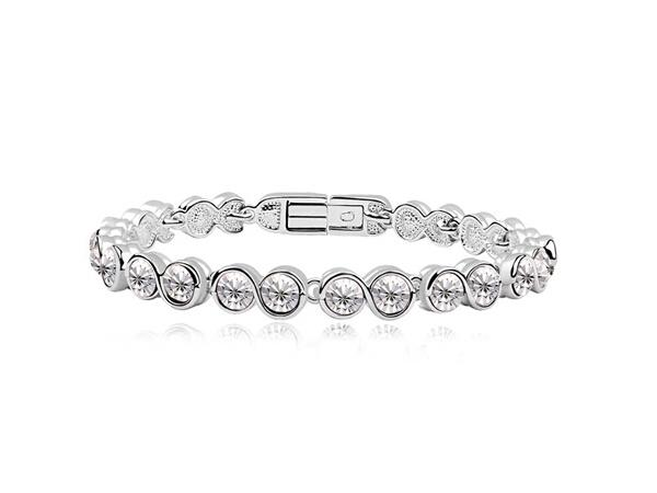 best selling Free Shipping Mix Wholesale Charm Austrian Zircon Bracelet Simple Design Made with Swarovski Elements(6 colors)