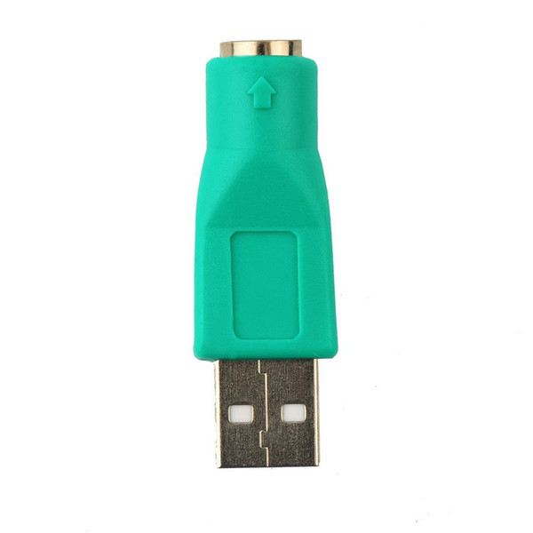 Al por mayor-alta calidad 1pc nuevo USB macho para PS2 convertidor adaptador femenino para computadora PC teclado ratón