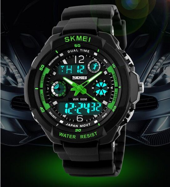 New Skmei Hot Sell S SHOCK Hombre Sports Watches Men Led Digit watch Clocks LED Dive Military Wristwatches