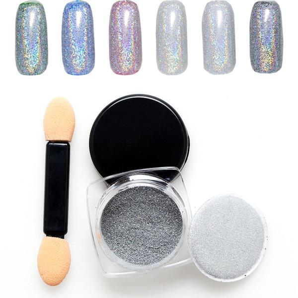 3 Bottle*1g Mirror Powder Shining Pigment Powder Chrome Pigment Nail ...