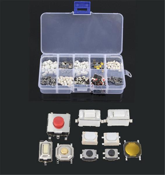 250Pcs 10 tipi Tasto tattile Interruttore tattile Tasto a distanza Tasto microinterruttore per TV, apparecchiature audio, videoregistratori