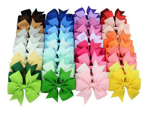 top popular 40 Colors Choos Cute Design Hair Bows Hair Pin for Kids Girls Children Baby Barrettes 2021