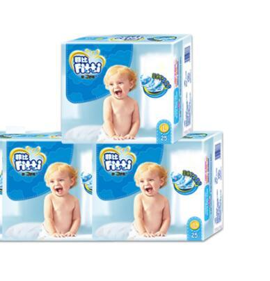 Lowest Price 2019 Factory sale Wholesale Baby Diapers Economy Pack Three-demensional leakproof locks in urine Ultra-Thin and soft W17JS440
