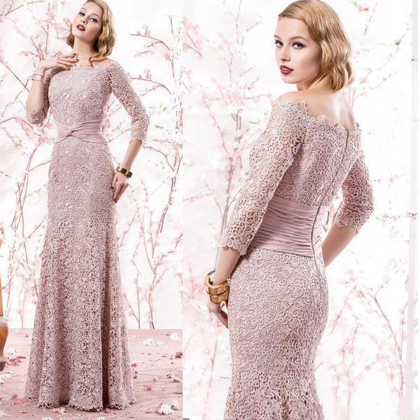 Mermaid Peach Evening Gowns Formal Suits Plus Size Lace Mother Of ...