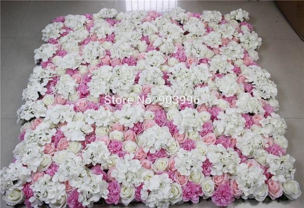 2017 Free Shipping-mix color-10pcs/lot Artificial silk rose flower wall wedding background lawn/pillar market decoration