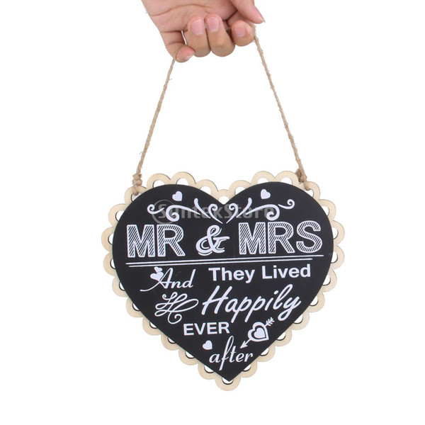 Wholesale- Mr And Mrs Wedding Sign Black And White Vintage Wooden Signs
