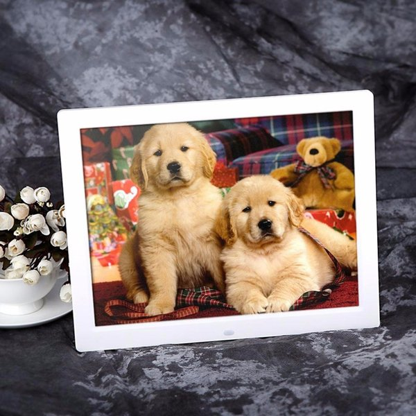 New 1280*800 Digital 15inch HD TFT-LCD Photo Picture Frame Alarm Clock MP3 MP4 Movie Player with Remote Control Wholesale