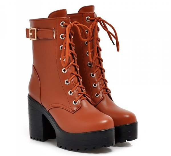 2017 free shipping roma new style factory price hot seller ankle women high heel platform Martin women boot 288