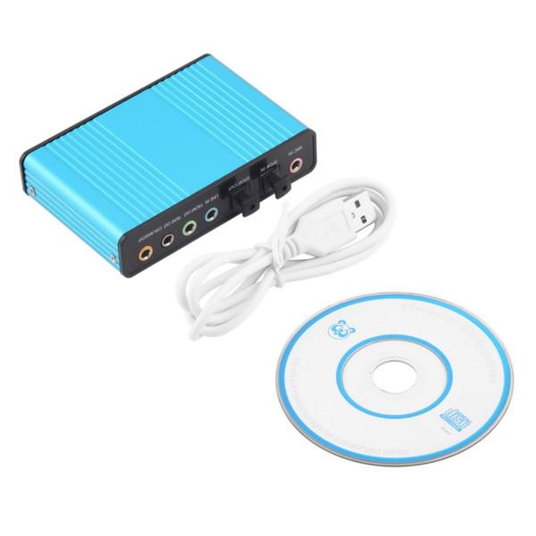 USB 6 canais de áudio 5.1 adaptador de placa de som óptico externo para pc portátil skype alta qualidade