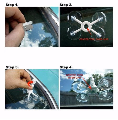 High Quality Newest Professional DIY Car Windshield Chip Repair Kit Tools Auto Glass Windscreen Repair Set Car Styling