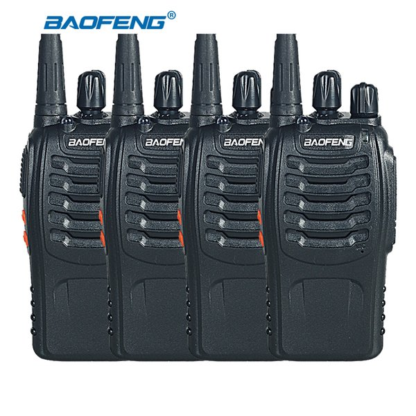 Wholesale- 4pcs BaoFeng BF-888S Two Way Radio UHF 400-470MHz Handheld Walkie Talkie CB Ham Radio Transmitter Baofeng 888S Transceiver