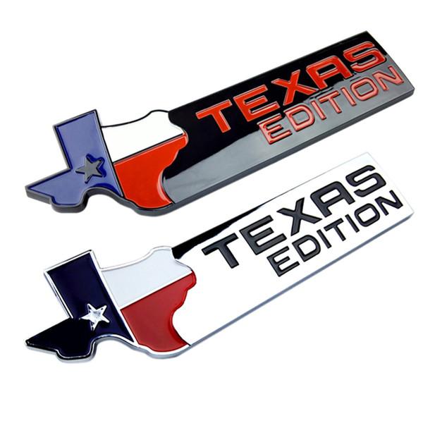 OTOKIT TEXAS EDITION Coffre CHROME Car Queue Emblème Côté Aile Badge Car Fender Autocollant pour JEEP Renegade Wrangler Patriot Cherokee