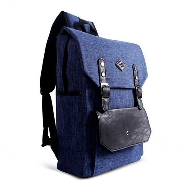 Ручка Рюкзак Большой Емкости Кампуса Рюкзак Холст Школа Двойной Мешок Плеча Пакет Открытый Бизнес Путешествия Случайный Рюкзак