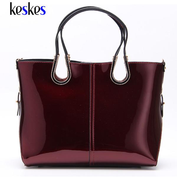 Wholesale-Patent Leather Medium Women Shoulder Bags Tote Women Handbags Luxury Women Messenger Bags Famous Brands Female Tote Bags ZCP131