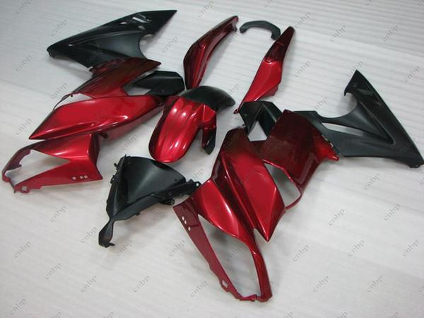 Bodywork for Kawasaki ER-6F 09 10 Full Body Kits ER6F 2010 Red Black Plastic Fairings ER-6F 10 11 2009 - 2011
