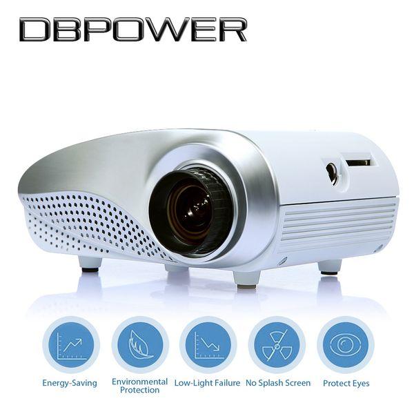 Wholesale- Mini LED Projector 1000:1 Hdmi 1080P HD Portable Pico proyectore Theater projetor TV VGA Games Video projecteur Beamer Projetor