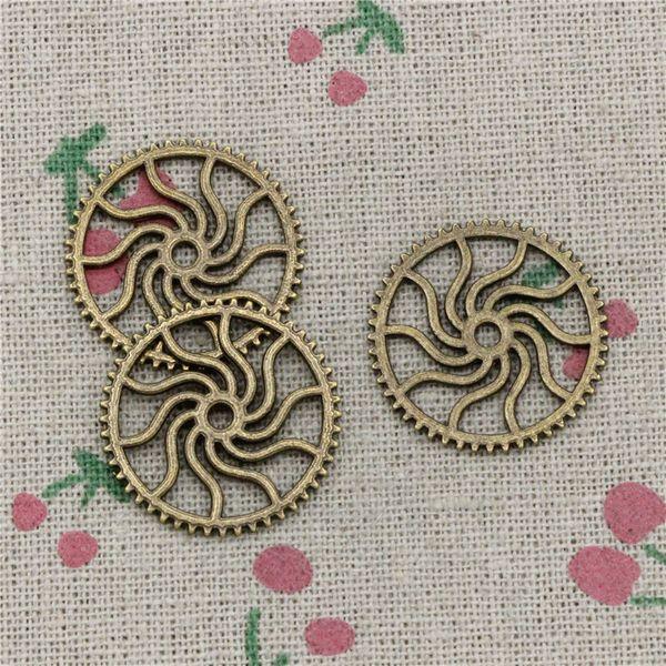 78pcs Charms steampunk gear 25mm Antique Bronze Vintage Pendants For Jewelry Making DIY Bracelet Necklace