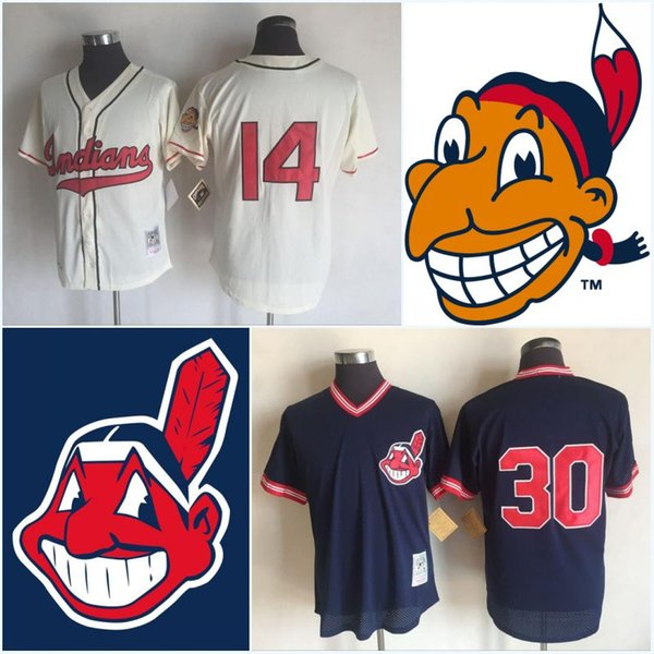cheaper fcf34 53f3e 2018 Mens Cleveland Indians 1948 1951 14 Larry Doby Jersey 19 Bob Feller 29  Satchel Paige 30 Joe Carter Throwback Cooperstown Jerseys From Ornaments ...
