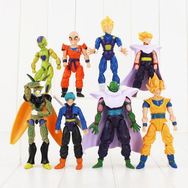 8pcs Dragon Ball Z Frieza Piccolo Vegeta Trunks Son Gohan goku Kuririn PVC Action Figure Collection Model Toy