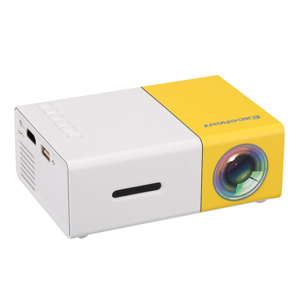 Wholesale-Hottest Mini YG300 LCD Projector Support HDMI/USB/SD/3.5mm Audio 400-600 Lumens 320 x 240 Pixels Fashionable Design Proyector
