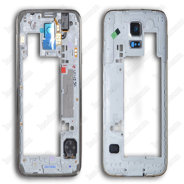 Middle Frame Bezel Rear Back Housing With Parts Replacement for Samsung Galaxy S5 G900 G900A G900T G900P G900V VS G900F G900H G900I Free