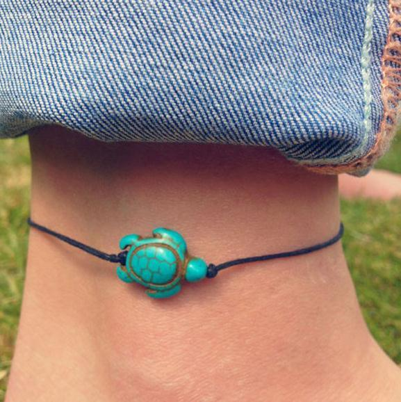 top popular Luxury boutique Europe and the United States Ms. new turtle-shaped anklets 2019