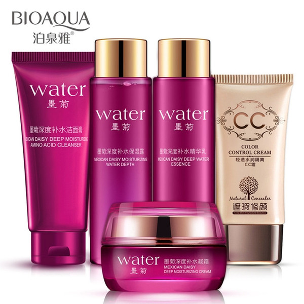 5Pcs/Set BIOAQUA Makeup Skin care Products Set Moisturizing Hydrating Nourishing Oil Control acne Lotion cosmetics