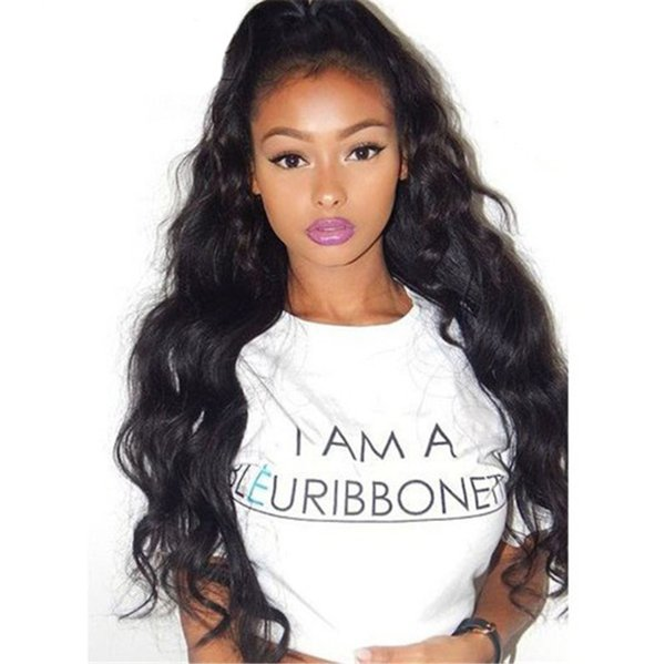 Human Hair Wigs for Black Women Peruvian Body Wave Silk Top Full Lace Wigs 130% Density Lace Front Wigs Silk Top FDSHINE