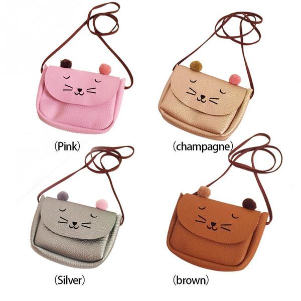 Wholesale- NEW 2016 Cartoon Cat Shoulder Messenger Bag Women Kids Single-Shoulder Bag Snack Bag *35