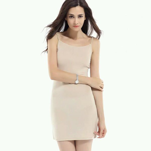 Women Slips 100%REAL SILK Full slips Healthy Under dress Anti emptied Intimates New Everyday slip dress Nude Black White