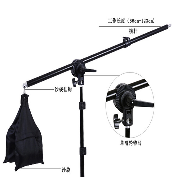 Boom Arm Top Lamp Bracket Holder Light Stand 55 inch Weight Bag Kit For Photo Studio Accessories Hand Grip Tripod DSLR