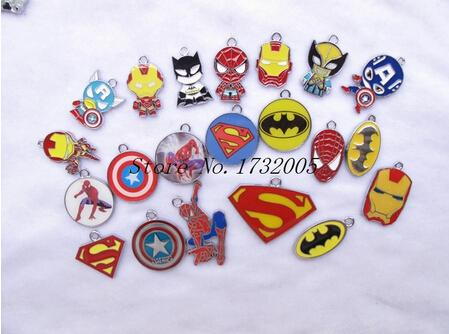 top popular Wholesale mixed the Avengers DIY Metal pendants Charms Jewelry Cartoon surrounding Making Gifts htie2 2019