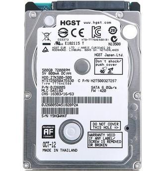 HGST / Hitachi Z7K500 HTS725050A7E630 500 GB 7200 RPM 2.5