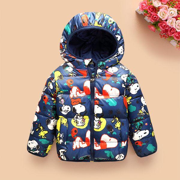 Niños prendas de vestir exteriores boysgirls invierno gruesos chaquetas de moda de dibujos animados cálidos niños coreano abajo parkas