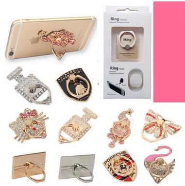 best selling Ring ring mobile phone metal band diamond ring buckle custom logo lazy bracket mobile phone bracket