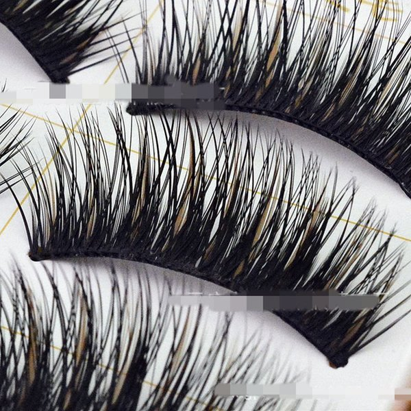 5 pairs Hot Sale Charming Black False Eyelashes Natural New Designer Makeup Eyelash Dense slender colored fake eyelashes E03