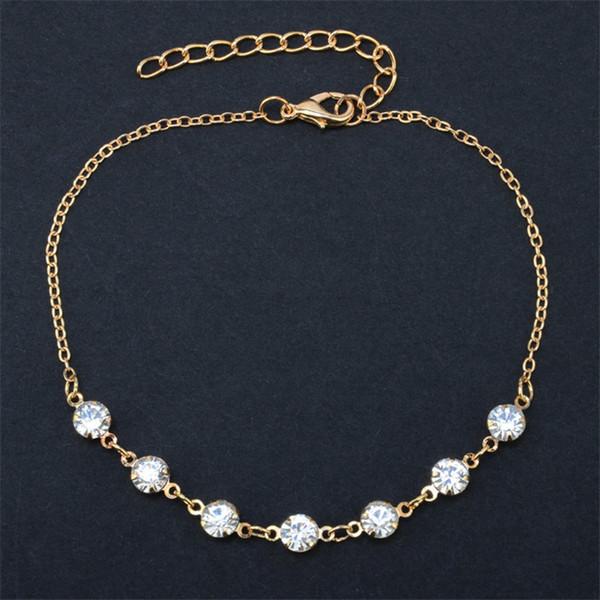 Cavigliere di cristallo d'imitazione della perla d'annata di modo per le donne Gioielli d'argento del piede del braccialetto a catena della catena della scarpa dell'acciaio inossidabile 2017 Sexy Beach