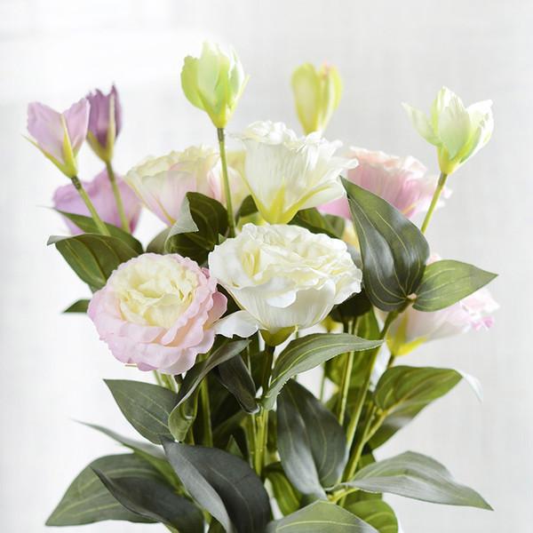 Image Fleur Noel.Acheter Artificielle Fleur 3 Tetes Eustoma Fleur De Soiree De Mariage Accueil Noel Decoratif 5 Couleurs De 8 05 Du Hongxullc Dhgate Com