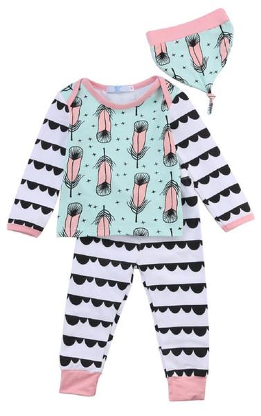 Baby Clothes Kids Girls Boys Clothing Set Christmas Pajamas Toddler Playsuit Infant Tracksuit Long Sleeve Shirt Legging Pants 3PCS Outfit