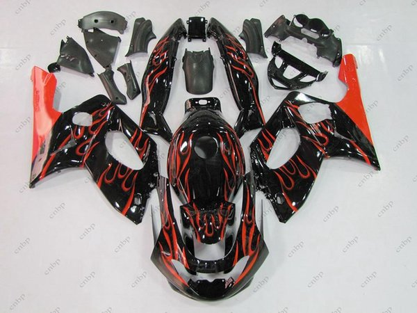 Body Kit YZF 600R 98 99 Kit carenatura Thundercat 02 03 Black Red Flame Kit completo corpo YZF600R 04 05 1997 - 2007