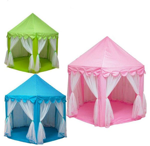 Portable Princess Castle Children Play Game Tent Activity Fairy House Indoor Outdoor Sport Toy Playhouse Tents Kids Fun Gifts