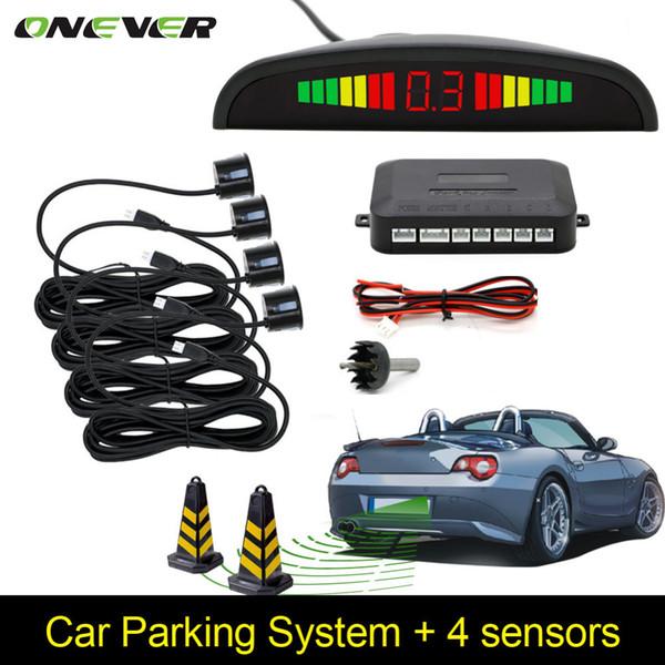 top popular Car Auto Parktronic LED Parking Sensor With 4 Sensors Reverse Backup Car Parking Radar Monitor Detector System Backlight Display 2021