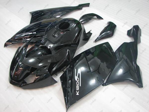 Plastic Fairings K 1200 S 2006 ABS Fairing K 1200S 07 08 Black Full Body Kits for BMW K1200S 2005 2005 - 2008