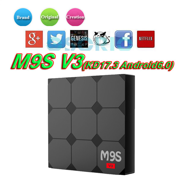 M9S V3 android 6.0 tv boxes RK3229 4K HDR H.265 HEVC 3D play Private model 1GB 8GB WIFI Internet TV Box