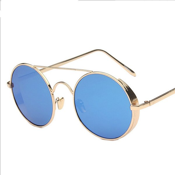 High Quality Metal Shelf Roundness Colorful Sunglasses for Women and Men 6 Colors G003 Free Shipping