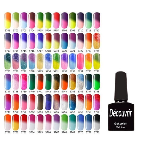2017 de Alta Calidad de Cambio de Color por Temperatura Gelish Nail Polish 8ml Nail Beauty 132 Colores de Larga Duración Gel de Uñas ZA2836