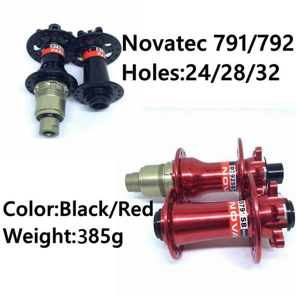 top popular Factory Price Red Black Colors About 385g HBS005 Novatec 791 792 MTB Bicycle Hubs 24 28 32 Holes For Sale 2019