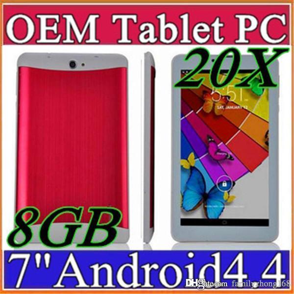"best selling 20X DHL 7 inch 7"" 3G Phablet Android 4.4 MTK6572 Dual Core 8GB 512MB Dual SIM GPS Phone Call WIFI Tablet PC Bluetooth B-7PB"