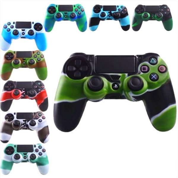 top popular For PS4 Gamepad Silicone Cover Rubber camouflage Case Protective Cover for Playstation 4 Controller Controle Joystick 2019